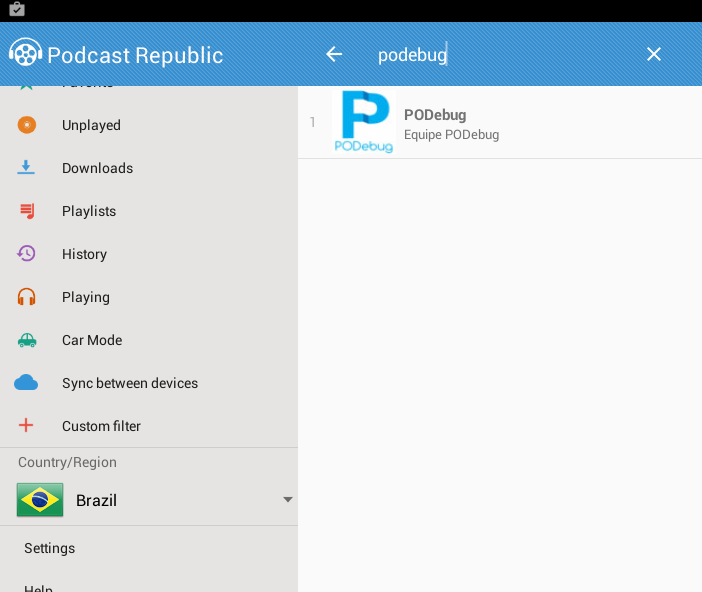 PODebug no Podcast Republic